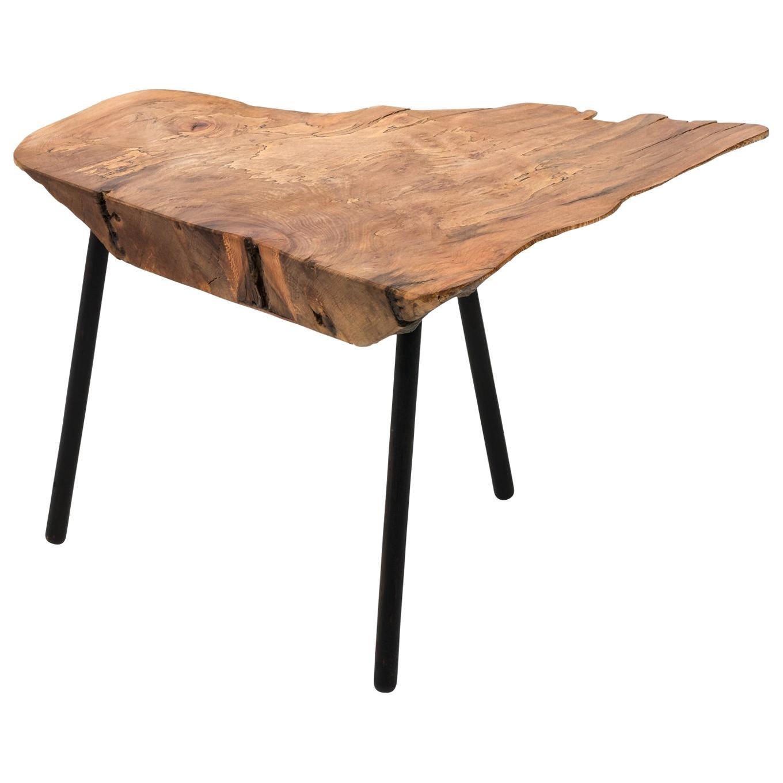 Modern Freeform Walnut Table, circa 2000