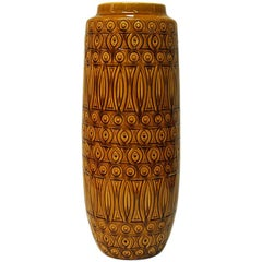 Yellow Ceramic vintage Inka Vase by Scheurich W. Germany, 1960s