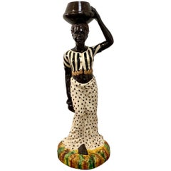 Monumental Venetian Female Blackamoor Jardinière, 20th Century, Italy