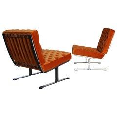 Karl Erik Ekselius Model F60 Lounge Chairs, circa 1965