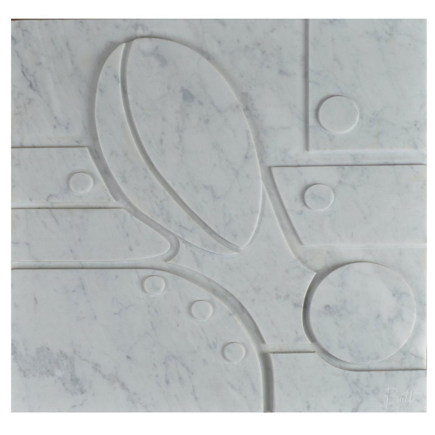 Small Carrara Marble Bas-Relief Aeneas