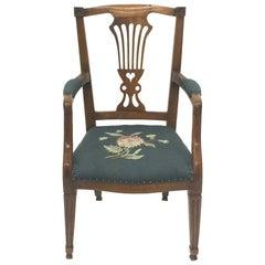 Early 19th Century Dutch Oak Children's Chair