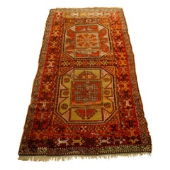 Antique Art Deco Turkish Carpet Anatolia Yürük
