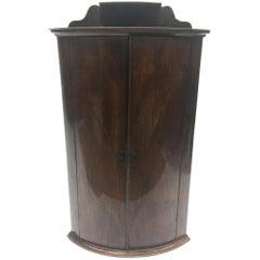 Early 19th Century English Oak and Mahogany Corner Cupboard