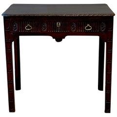 George III Mahogany Diminutive Console Table
