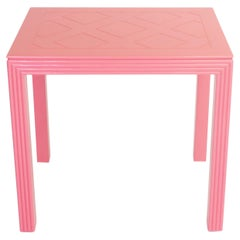 Antique Flamingo Pink Side Table