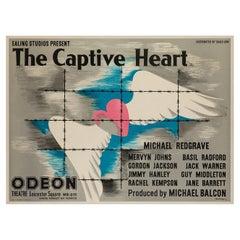 Captive Heart Original Premiere Uk Film Poster, John Bainbridge, 1946