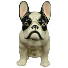 Art Deco Porcelain French Bulldog Figurine, Germany, 1930s