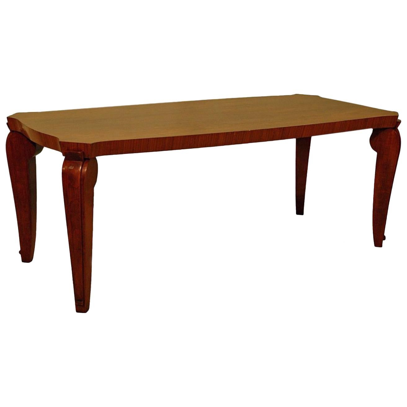 1940s Designer Wood Coffee Table Designed by André Arbus