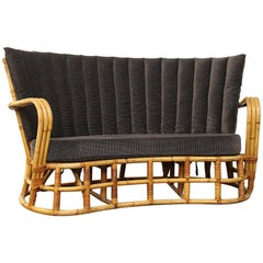 Rattan / Bamboo Sofa Giovanni Travasa for Bonacina