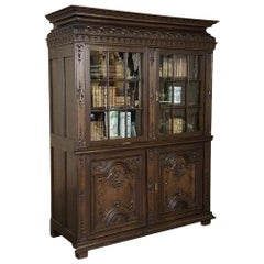 18th Century French Louis XIV Bookcase, Vitrine