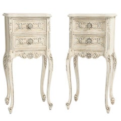 Pair of Petite Painted Italian Night Table Chests