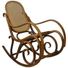 Bentwood and Cane Rocking Chair, Thonet Style