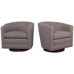Pair of Swivel Chairs by Edward Wormley for Dunbar