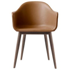 "Harbour Chair, Legs in Dark Oak, Nevotex ""Dakar"" #0250, Cognac"