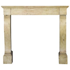 18th Century, French Timely Antique Fireplace Surround