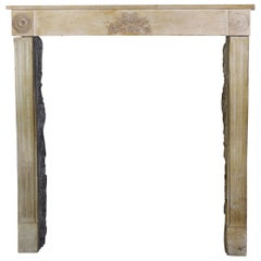 Small and Fine French Classic Original Antique Fireplace Surround in Stone