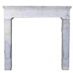 French Rustic Bicolor Stone Antique Fireplace Surround