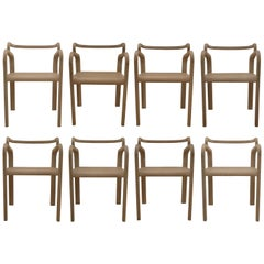 Six Odette Dining Chairs in Oak by France and Juul