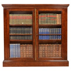 Georgian Figured Mahogany Dwarf Bookcase