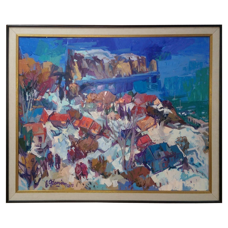 'Charlevoix' 003 Contemporary Oil on Board Painting Bedros Aslanian For Sale