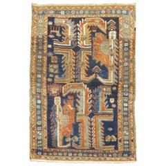 Antique Persian Heriz Scatter Rug