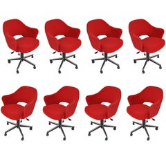 Set of 8 Mid-Century Modern Saarinen Executive Armchairs