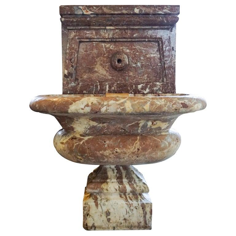 Italian Marble Wall Fountain, circa 1870 For Sale