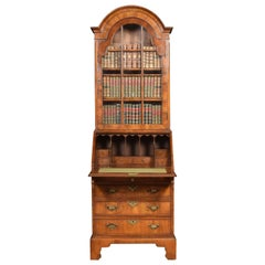Walnut Bureau Bookcase of Small Proportions