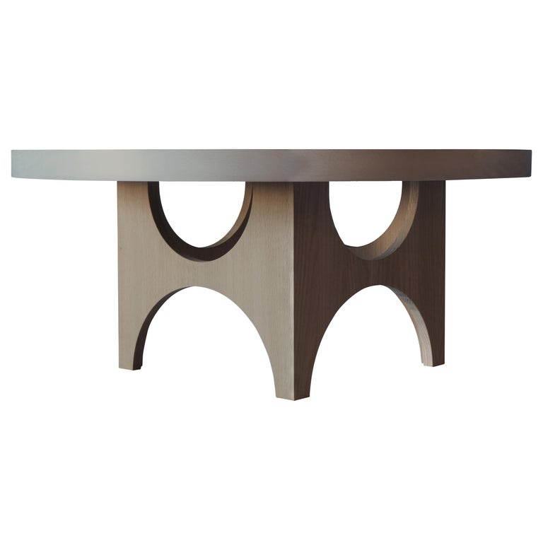 Beech And Oak Round Coffee Table By Msj Furniture Studio