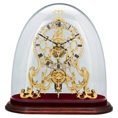 English Arabesque Skeleton Clock by Evans of Handsworth