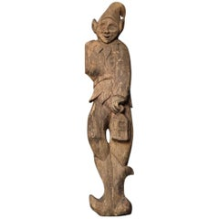 Early 20th Century Carved Oak Pixie Figure