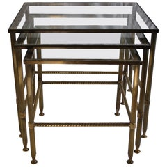 Midcentury French Nesting Tables, Maison Jansen Bagues, 1950s
