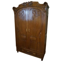 Art Nouveau Secesja Wardrobe from 1900