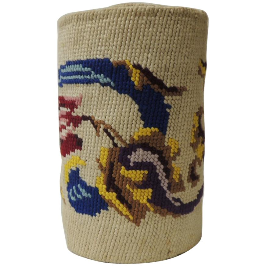 Vintage  Red and Blue Tapestry Bellpull