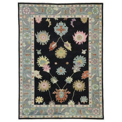 New Contemporary Oushak Area Rug with Hollywood Regency Luxe Style