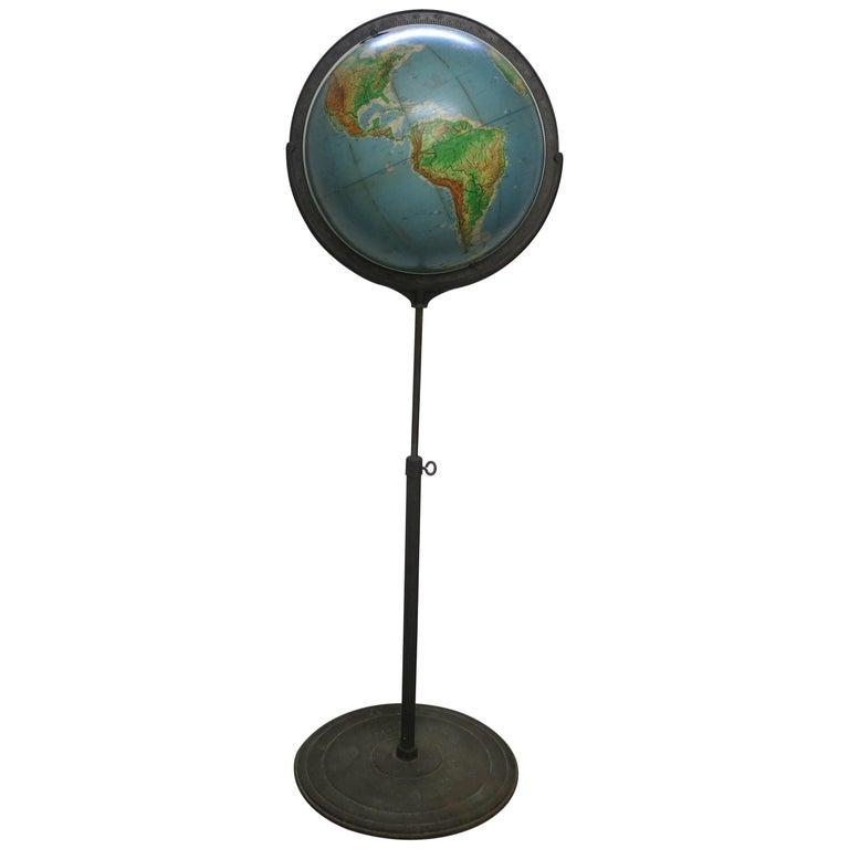 Denoyer-Geppert Floor Globe Midcentury For Sale