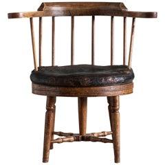 18th Century Gustavian Revolving Desk Chair