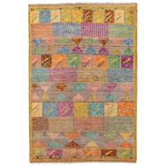 New Colorful Modern Gabbeh Rug