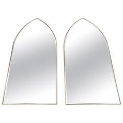 Stunning Pair Gothic Cathedral Shaped Mirrors Hobey Helen Baker
