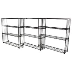 Metal Wire Room Divider or Bookcase by Tjerk Reijenga for Pilastro, Dutch, 1960s