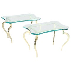 Maison Ramsay Hollywood Regency Side Tables with Cabriole Legs