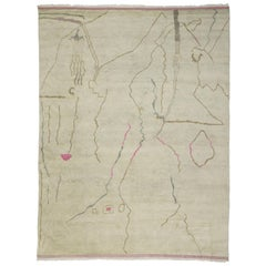New Contemporary Moroccan Rug with Line Art Style and Abstract Expressionism
