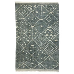 New Contemporary Moroccan Area Rug with Organic Modern and Hygge Style