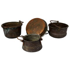 19th Century Set of Four Copper Pots