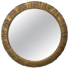 Art Deco Gold Gilded Sunburst Mirror