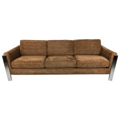 Mint Chrome Frame Sofa by Milo Baughman for Thayer Coggin