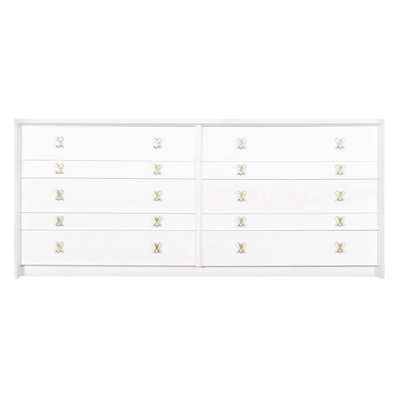 """Vintage Lacquered """"X"""" Dresser by Paul Frankl"""