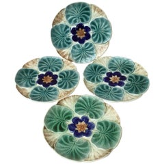 Majolica Water Lily Pond Plate Wasmuel, circa 1890