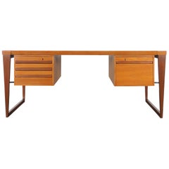Danish Teak Executive Desk by Kai Kristiansen